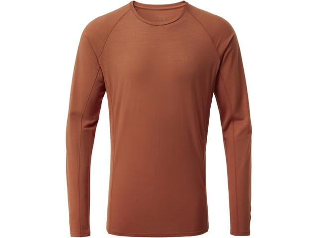 Rab Forge Langærmet T-shirt Herrer, red clay